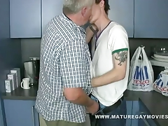 Fat Daddy Gets Fucked By His Younger Lover